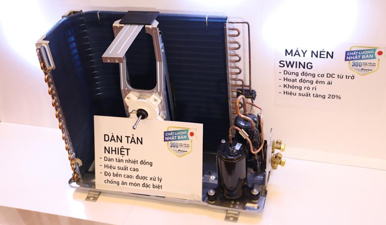 Điều hòa Daikin 1 chiều 9000btu FTKA25UAVMV mẫu mới 2020- dàn tản nhiệt mới