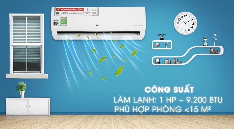 Điều hòa LG 9000 BTU 1 chiều Inverter V10ENH giá rẻ tại vinh nghệ an, hà tĩnh