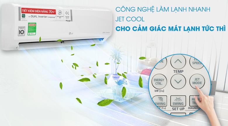 Điều hòa LG 9000 BTU  V10ENH với công nghệ jet cool