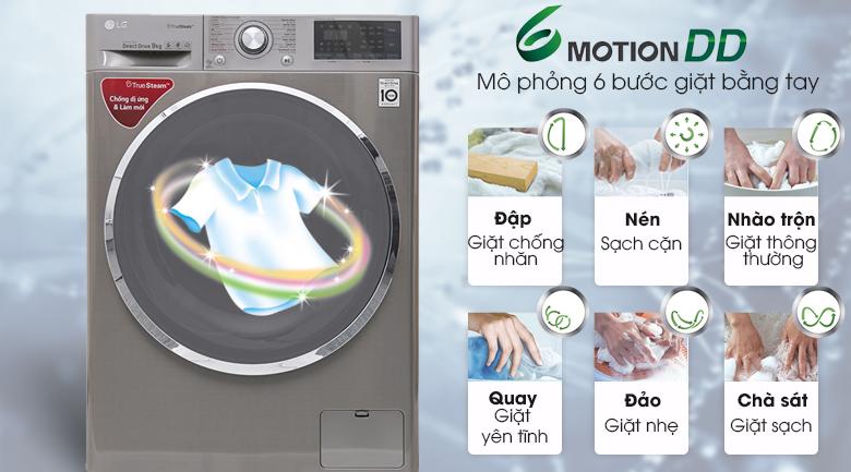 Máy giặt LG 9 kg inverter FC1409S2E- giặt 6 chuyển động