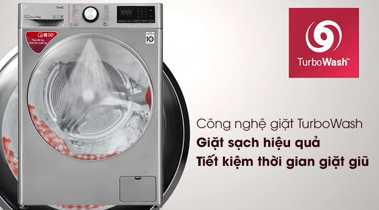 Máy giặt LG lông ngang Inverter 9 kg FV1409S2Vturbo wassh