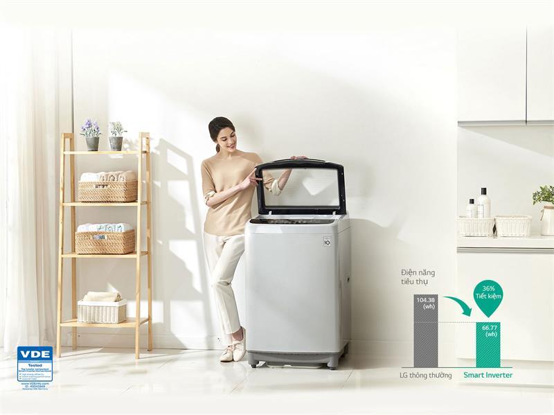 máy giặt lồng đứng LG T2350VS2W
