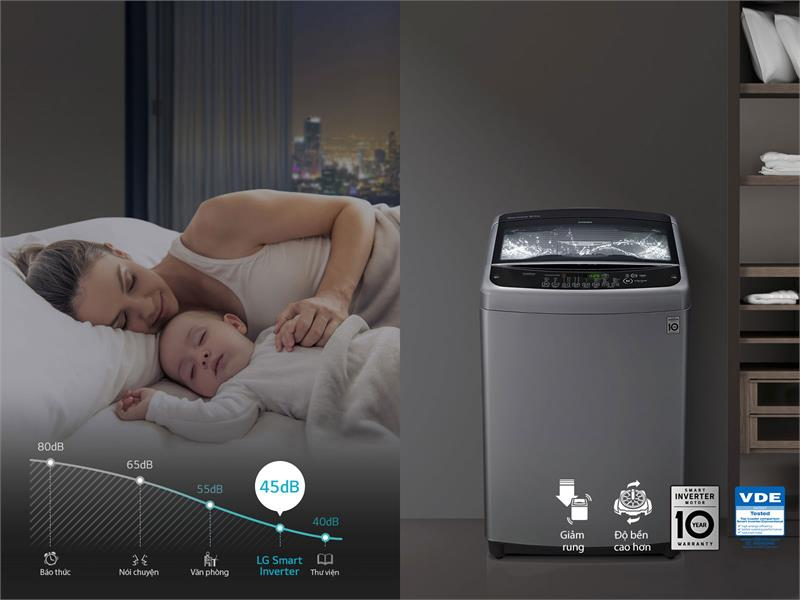 Máy giặt LG lồng đứng 10.5 kg T2350VS2W
