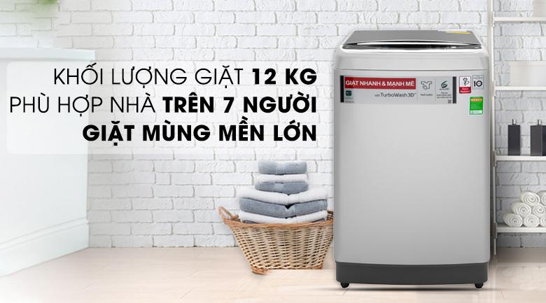 Máy giặt LG lông đứng 12 kg TH2112SSAV inverter năm 2020
