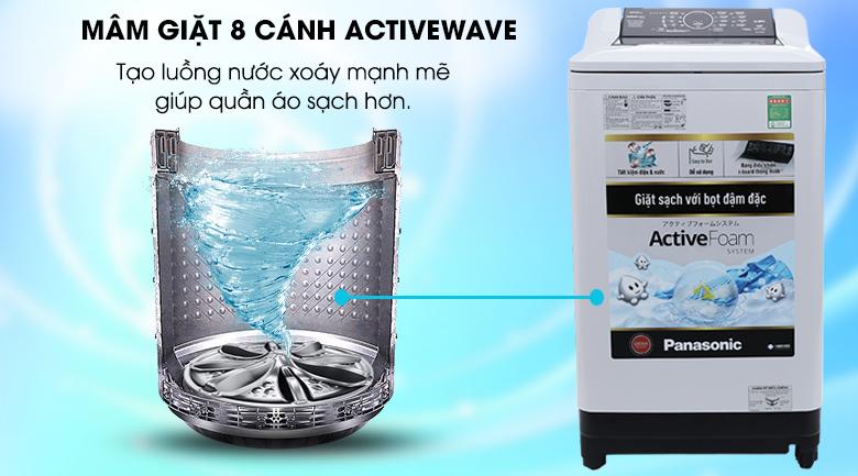 Máy giặt Panasonic 10kg NA-F100A4GRV- active wave
