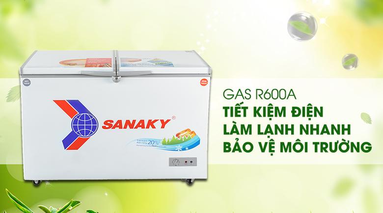Tủ đông Sanaky 260 lít dàn lạnh đồng VH-3699W1 giá rẻ tại tp vinh nghệ an- R6000a