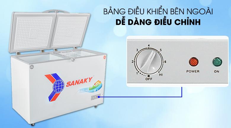 Tủ đông Sanaky 260 lít dàn lạnh đồng VH-3699W1 giá rẻ tại tp vinh nghệ an