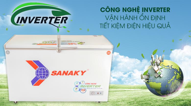 Tủ đông Sanaky 280 lít inverter VH-4099W3 giá rẻ tại nghệ an