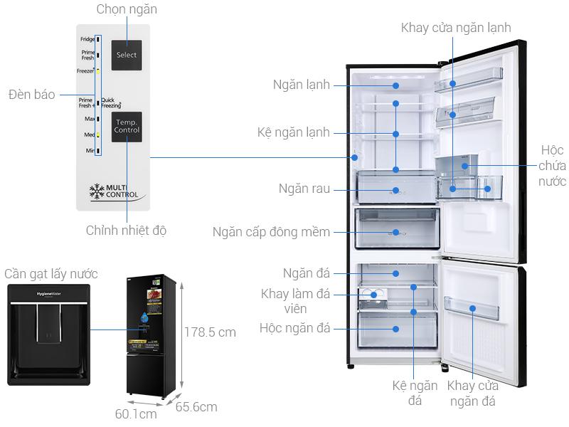 Tủ lạnh Panasonic 322 lít inverter NR-BC360WKVN mẫu 2020