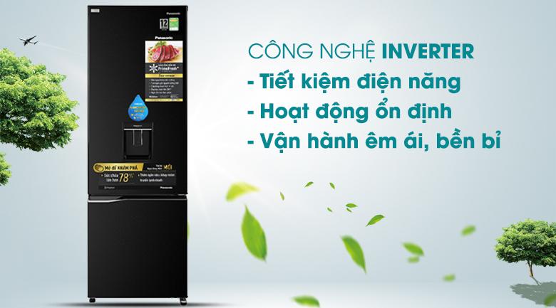 Tủ lạnh Panasonic 322 lít NR-BC360WKVN tại vinh nghệ an