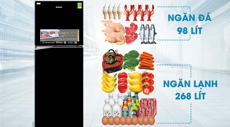 Tủ lạnh Panasonic 366 lít NR-BL389PKVN- dung tích lnws