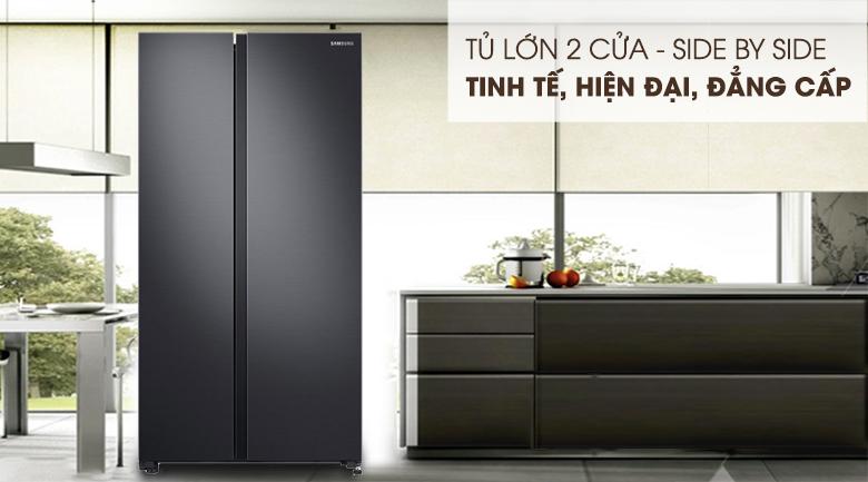 Tủ lạnh Samsung 647 lít side by side RS62R5001B4/SV- thiết kế đẹp