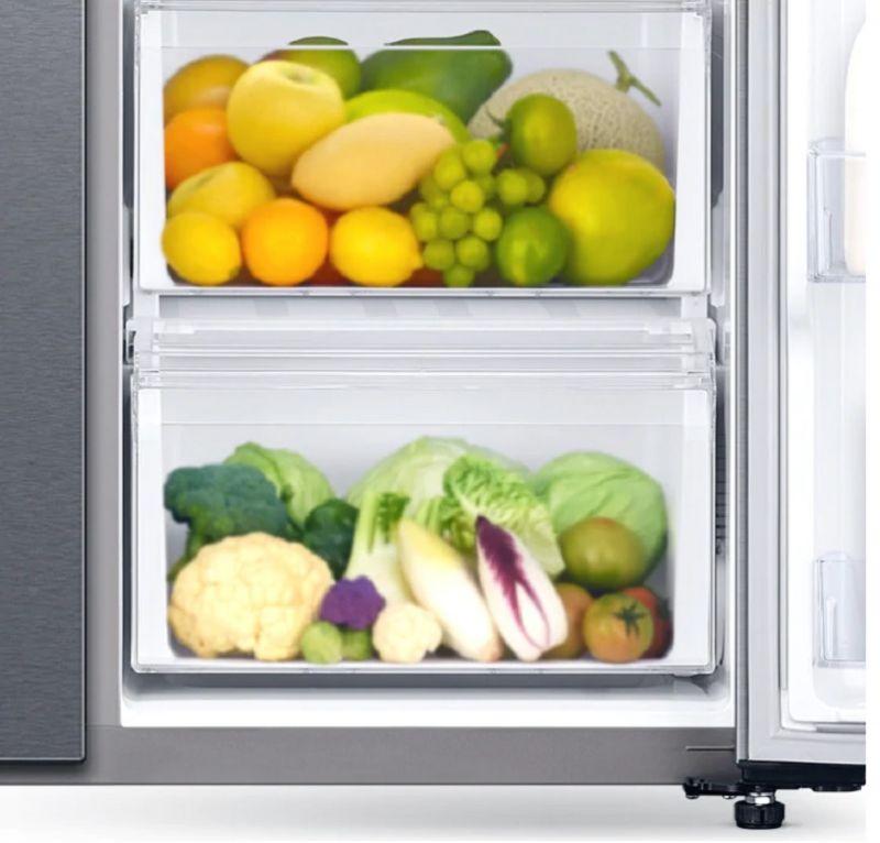 Tủ lạnh Samsung 647 lít side by side RS62R5001B4/SV- ngăn hoa quả rộng rãi