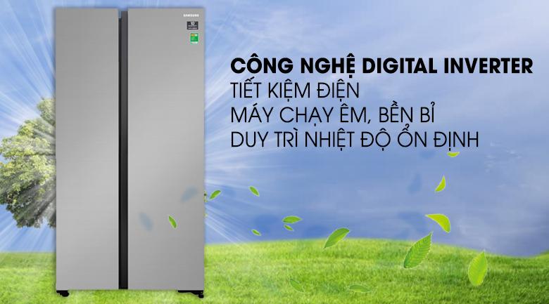 Tủ lạnh Samsung 647 lít side by side RS62R5001B4/SV- inverter