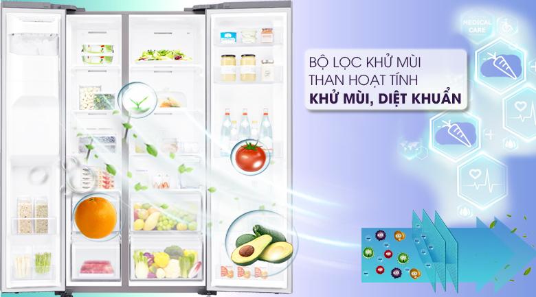 Tủ lạnh Samsung 617 lít side by side RS64R5101SL/SV giá rẻ- công nghệ inverter