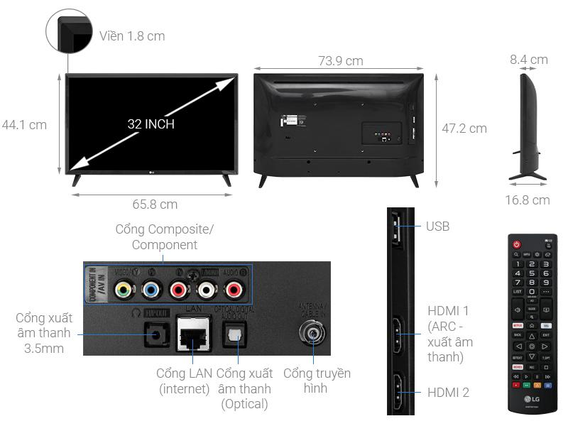 Smart Tivi LG 32 inch HD 32LM570BPTC