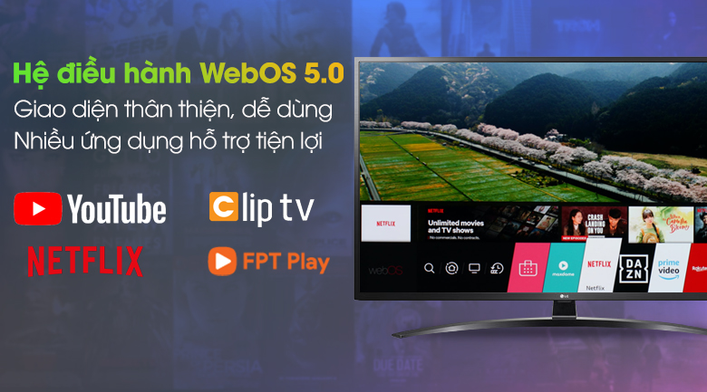 TV LG 49 inch 4K 49UN7400PTA mẫu 2020