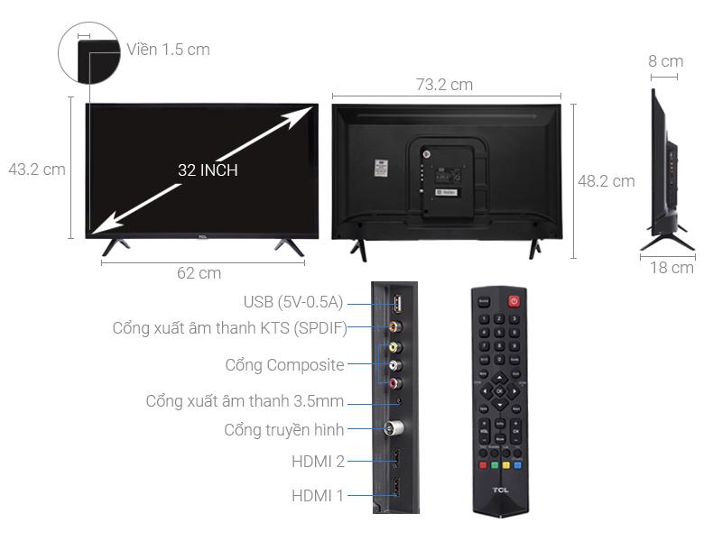 Tivi TCL 32 inch L32D3000 HD