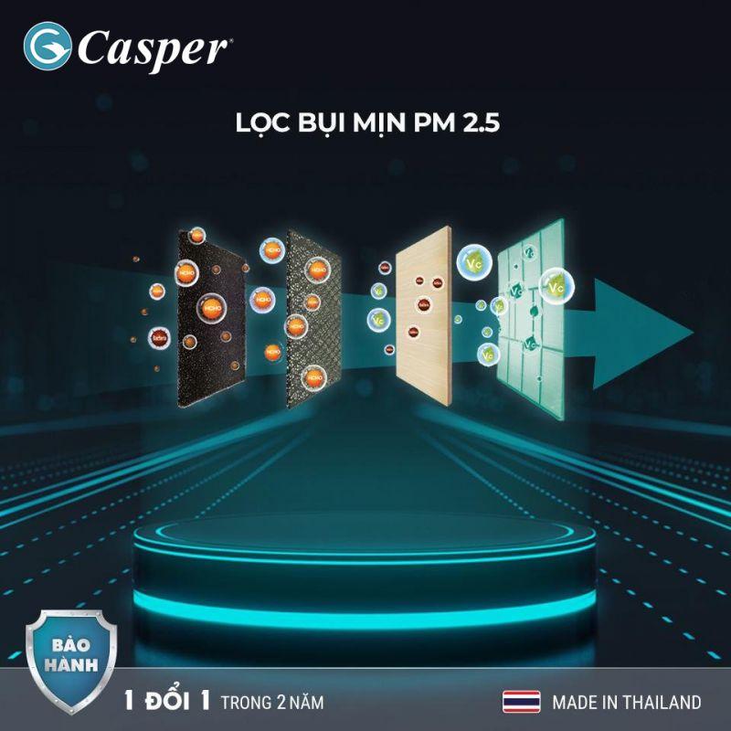 điều hòa casper 2021- Lưới lọc vi khuẩn, bụi mịn 2.5PM