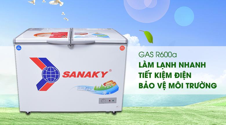 Gas R600a - Tủ đông Sanaky VH-2899W1