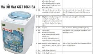 Bảng mã lỗi máy giặt Toshiba và cách khắp phục